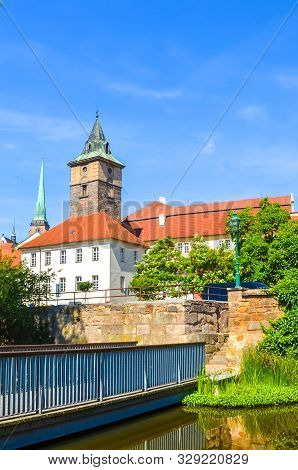 Vertical Photo Of Pilsen, Western Bohemia, Czech Republic With Dominant Water Tower, Vodarenska Vez