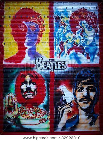 The Beatles Graffiti Wall