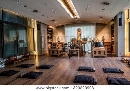 Taichung, Taiwan - June 22th, 2019: International Bodhisattva Sangha Temple, Dali township, Taichung, Taiwan