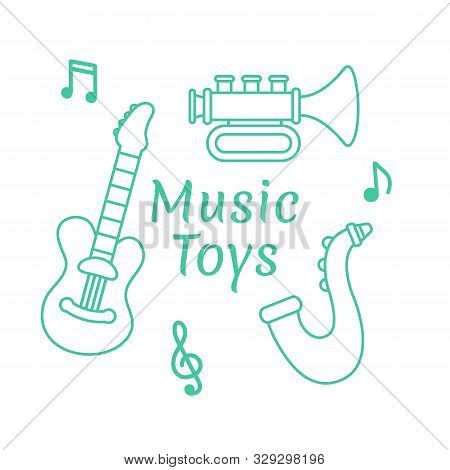 Musical Instruments Music Toys For Kids Vector