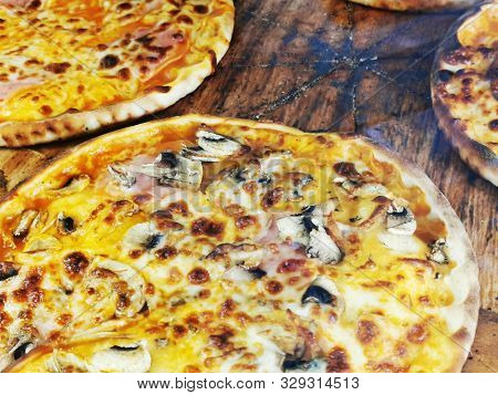 Pizza Food Texture As Nice Gourmet Background