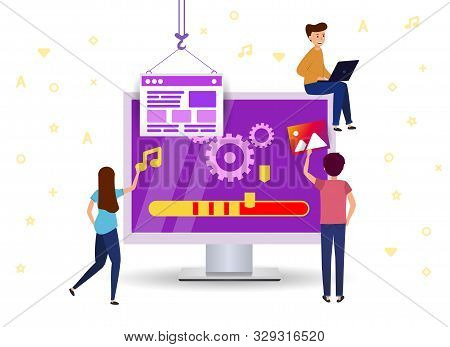 Update Software To Your Computer. Team Work Support Website.