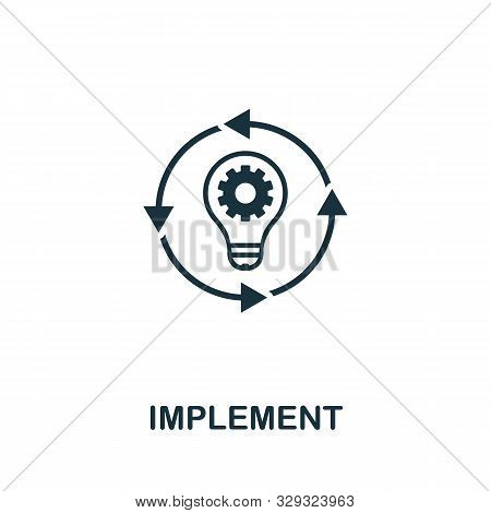 Implement Vector Icon Symbol. Creative Sign From Business Administration Icons Collection. Filled Fl
