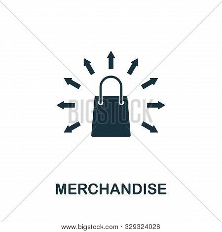 Merchandise Vector Icon Symbol. Creative Sign From Business Administration Icons Collection. Filled