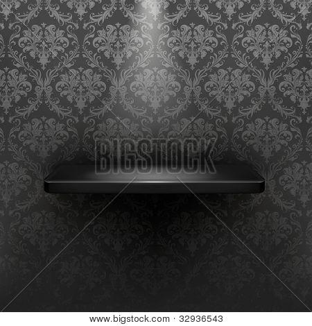 Empty shelf, black luxury bitmap copy