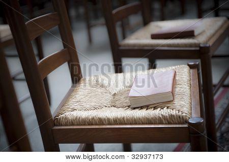 Bible on church chair