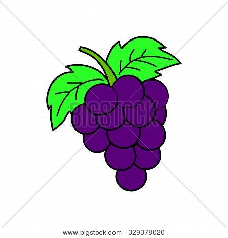 Grapes Icon Isolated On White Background From Gastronomy Collection. Grapes Icon Trendy And Modern G