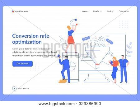 Conversion Rate Optimization. Sales Funnel Strategy, Seo Optimization And Sales Statistical Tests. M