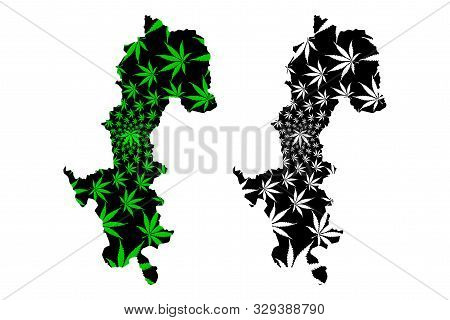 Mae Hong Son Province (kingdom Of Thailand, Siam, Provinces Of Thailand) Map Is Designed Cannabis Le