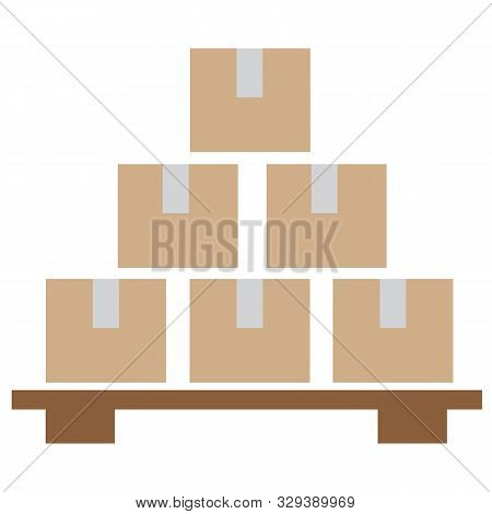 Inventory Control Icon On White Background. Flat Style. Inventory Control Symbol. Solid Inventory Co
