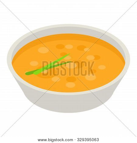 Onion Soup Icon. Isometric Of Onion Soup Vector Icon For Web Design Isolated On White Background