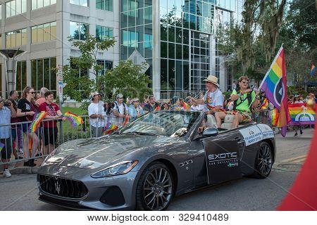 Orlando, Florida. October 12, 2019. Orlando Mayor Buddy Dyer In Come Out With Pride Orlando Parade A