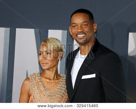 Will Smith and Jada Pinkett Smith at the Los Angeles premiere of 'Gemini Man' held at the TCL Chinese Theatre in Hollywood, USA on October 6, 2019.