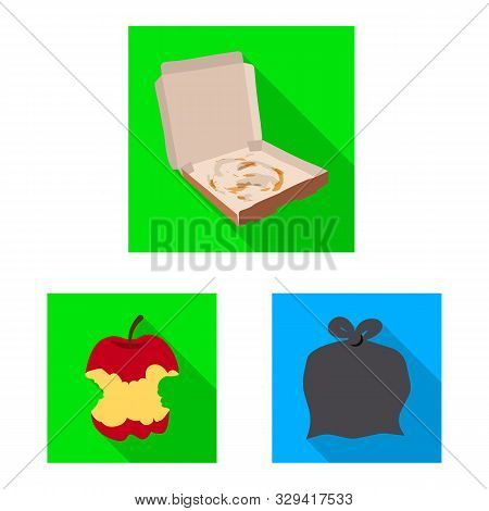 Vector Design Of Refuse And Junk Sign. Set Of Refuse And Waste Stock Vector Illustration.