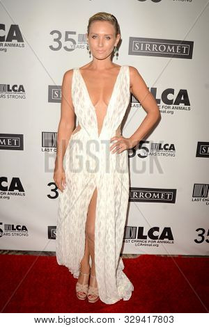 LOS ANGELES - OCT 19:  Nicky Whelan at the Last Chance for Animals' 35th Anniversary Gala at the Beverly Hilton Hotel on October 19, 2019 in Beverly Hills, CA