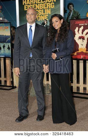 LOS ANGELES - OCT 11:  Cory Booker, Rosario Dawson at the