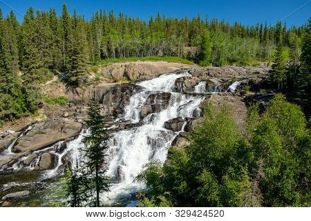Beautiful and magnificent Cameron Falls, Northwest Territories poster