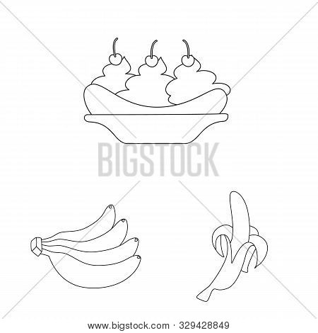 Vector Design Of Organic And Potassium Sign. Set Of Organic And Diet Stock Symbol For Web.