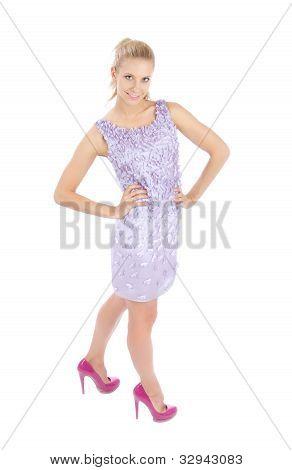Beautifull Woman Smiling In Casual Dress Smiling