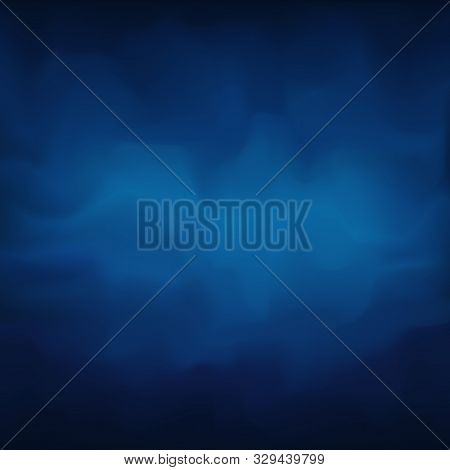 Backdrop With Dark Blue Smoky Plaster, Wall With Venetian Plaster. Abstract Smoky Background For Coo