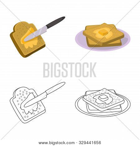 Isolated Object Of Creamy And Product Symbol. Set Of Creamy And Farm Stock Vector Illustration.