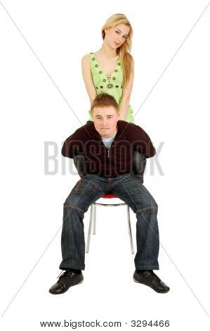 Hapless Guy Keeps A Girl On His Back
