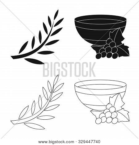 Vector Design Of Deity And Antique Icon. Collection Of Deity And Myths Stock Vector Illustration.