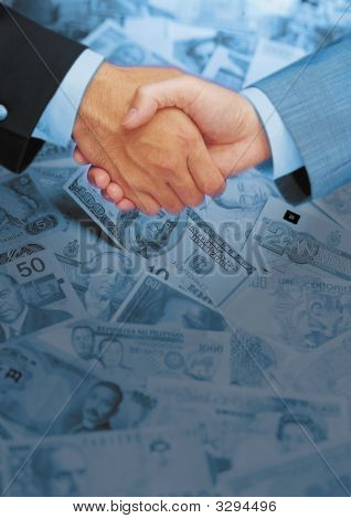 Hand Shake On A Business Deal .