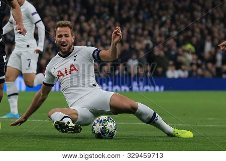 LONDON, ENGLAND - OCTOBER 22 2019: Tottenham's Harry Kane during the UEFA Champions League match between Tottenham Hotspur and Red Star Belgrade, at Tottenham Hotspur Stadium, London England.
