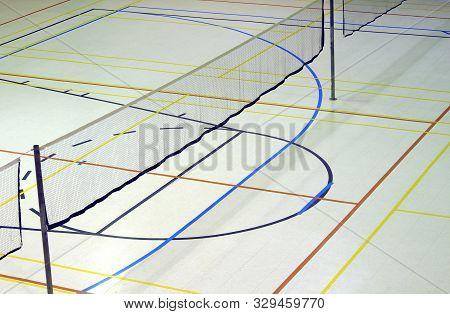 Badminton Net Gymnasium Sport Leisure Playground Lines