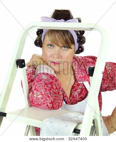 Housewife With Ladder