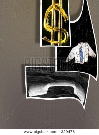 Abstract Signs And Symbols Of Doing Business - Profits - Puzzles