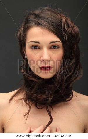 A wild beautiful woman portrait