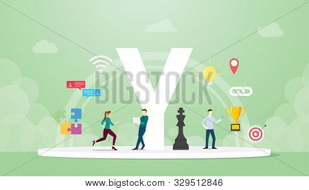 Generation Y Concept People With Team And People Icons Related With Creativity And Agility With Mode