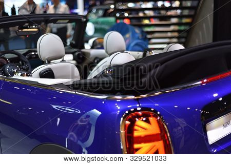 Frankfurt, Germany, September 11-2019: Mini Cooper Cabrio Iaa 2019