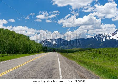 Mountain scenery along the San Juan Skyway, Colorado poster