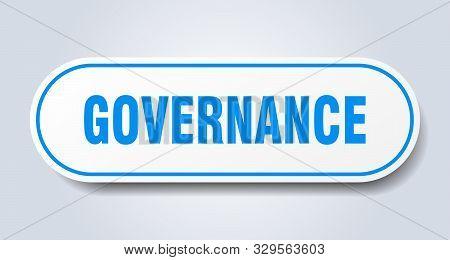 Governance Sign. Governance Rounded Blue Sticker On White Background