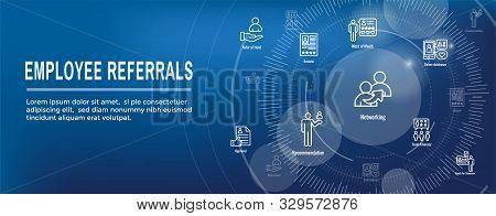 Employee Referrals Icon Set W Web Header Banner
