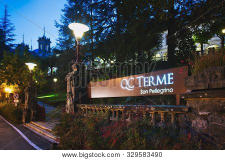 Entry To The Qc Terme Spa. At The San Pellegrino Terme Casino