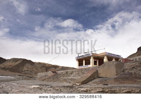 Jammu Kashmir, India - March 20 : Building At Viewpoint Of Confluence Of The Indus And Zanskar River