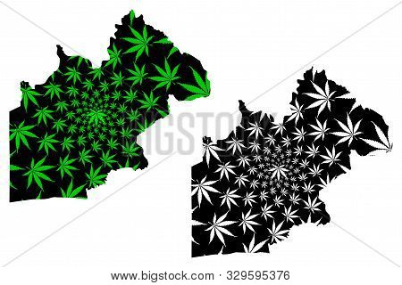 Nakhon Nayok Province (kingdom Of Thailand, Siam, Provinces Of Thailand) Map Is Designed Cannabis Le