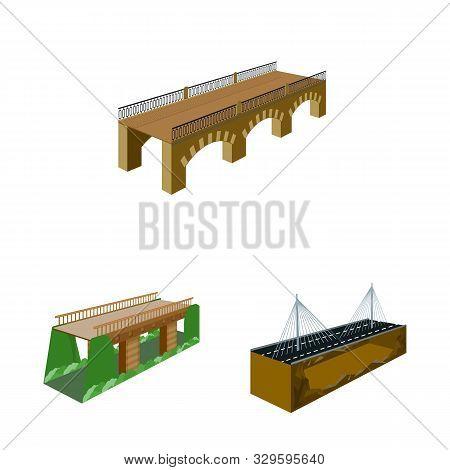 Vector Design Of Bridgework And Architecture Logo. Collection Of Bridgework And Structure Vector Ico