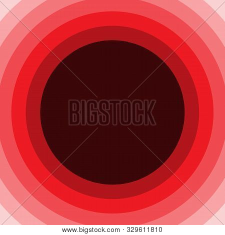 Red Circle Overlap Layers Background On Dark Gray Design Modern Overlap Dimension Vector.