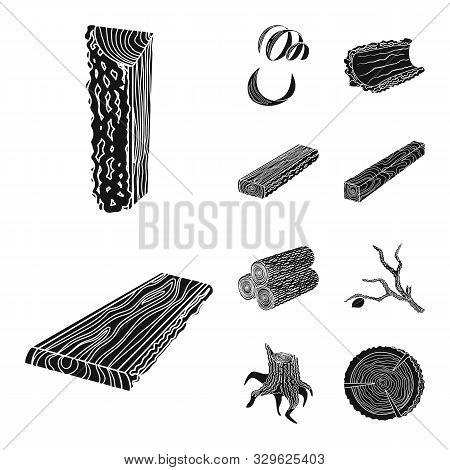 Isolated Object Of Hardwood And Construction Logo. Collection Of Hardwood And Wood Stock Symbol For