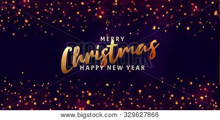Christmas Light Vector Background. Happy Hew 2020 Year. Sparkling Magical Dust Particles. Xmas Card.