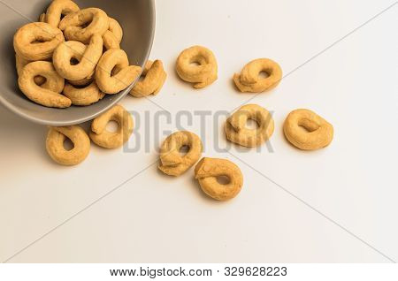 Taralli Is A Traditional Italian Appetizer, Similar To Drying Or Bagels, Typical Of The Cuisine Of S