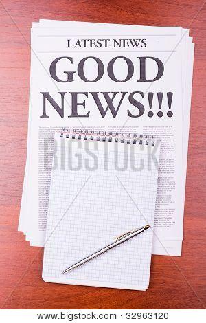 The Newspaper Good News!!!