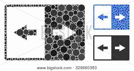 Invert Mosaic Of Small Circles In Various Sizes And Color Tints, Based On Invert Icon. Vector Small