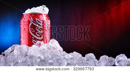 Can Of Coca-cola With Crushed Ice