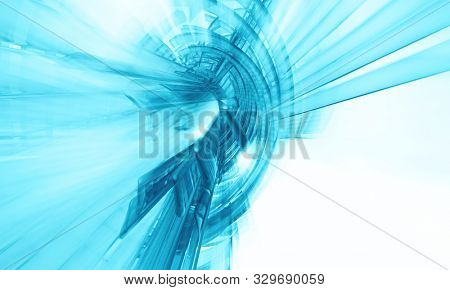 3D rendering of abstract technology concept background ready for presentation